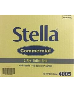 Toilet Paper Stella Commercial 4005 2ply Ctn48