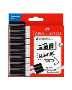 Connector Whiteboard Markers Black Pack of 8