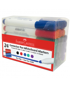 Connector Whiteboard Markers Assorted  Pack of 24