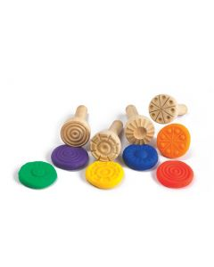 Wooden Dough Stampers Set of 4