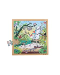 Vocabulary Puzzle - Tropical Forest 49 pc