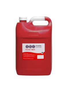 ABC  Poster Paint 5L Red