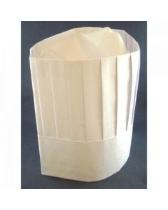 Chef Hat Paper Vertical Pleat Pack of 10