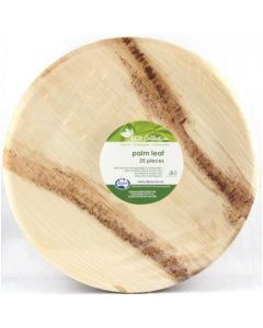 Palm Leaf Round Plate 25cm Pack of 25