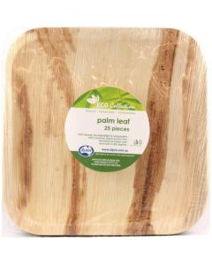 Palm Leaf Square Plate Pack of 25