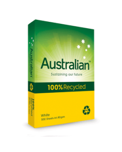 Copy Paper Australian 100% Recycled A4 White 80gsm Box 5