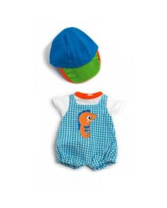 Baby Doll Jump Suit and Cap Clothing Set 32cm