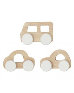 Wooden Cars and Bus Set of 3