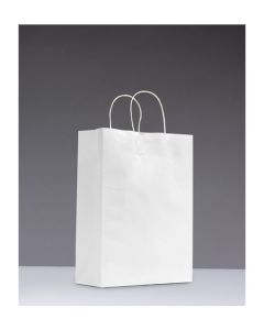 Bag Paper White with Twisted handle (Small) 350x260+ 110mm pk50