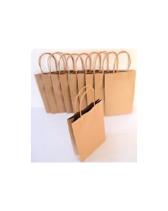 Bag Paper Brown with Twisted handle (Small) 350x260+110mm pk50