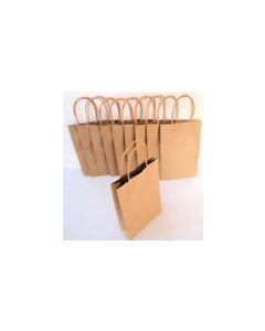 Bag Paper Brown with Twisted handle (Large) 500x4500+120mm Pk50