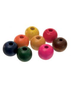 Beads Wooden Round 12mm Pk100