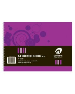 Sketch Book Spiral Olympic A4 40 Page