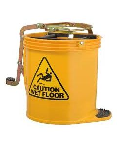 Mop Bucket Roller Plastic with castors 16 Litres - Yellow