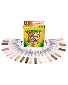 Crayola Colours Of The World Markers Pack of 24