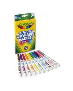 Crayola Ultra Clean Fineline Markers Pack Of 10