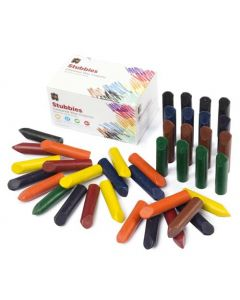 Crayons Stubbies 8 Coloured Wax 60x15mm Pk40