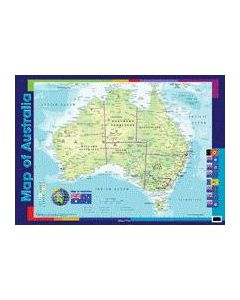 Wall Chart - Map of Australia