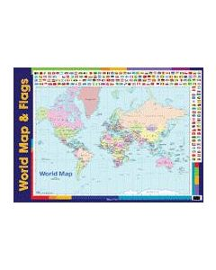 Wall Chart - World Map & Flags