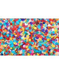 Confetti 1cm Round Assorted Bright 250gm