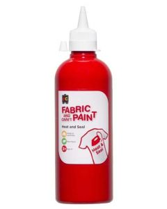 Fabric Paint 500ml Red