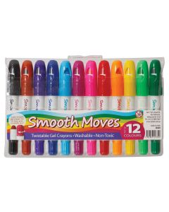 Crayons Smooth Moves Twistable Gel Pk12