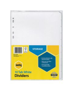 Dividers Manilla White 10 Tab A4