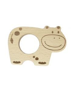 Wooden Teether Hippo