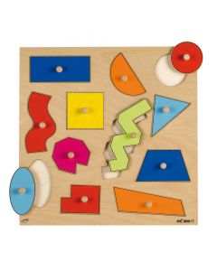 Inlay Board Puzzles - Geometric Shapes