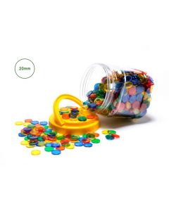 Small Transparent Counters Jar Of 1000