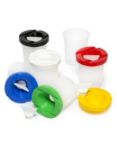Safety Paint Pot Set of 6 With Stopper