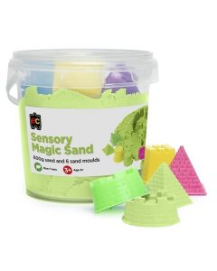 Sensory Magic Sand 600gm Tub Green with Moulds