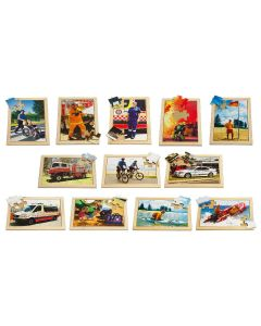 Emergency Services 12PC Puzzles Set Of 12 With Free Poster Kit