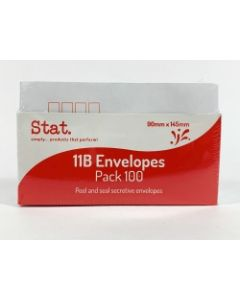 Envelope 11B Peel Seal 90x145mm Pk100