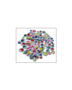 Eyes Glue on Assorted coloured 12mm Pk100