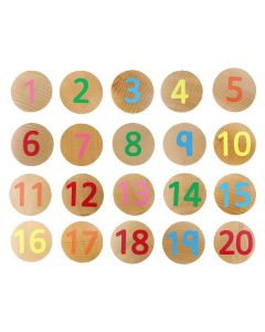 Numbers 1-20 Wooden Matching Pairs