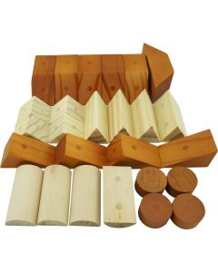 Magnetic Wooden Shaped Blocks 30pc Set