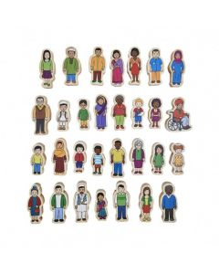 My Family Wooden People 30 pc Set
