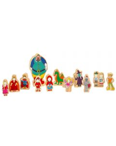 Wooden Fairy Tale Characters 12pc Set