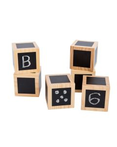 Fun with Chalk! Wooden Cubes Set of 6