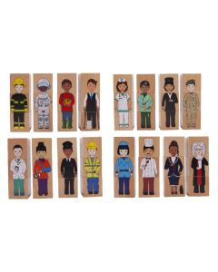 Careers Mix N Match Wooden Blocks