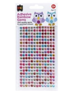 Gems Rainbow Adhesive Pack of 200