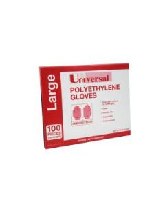 PE Gloves Clear Large Box 500