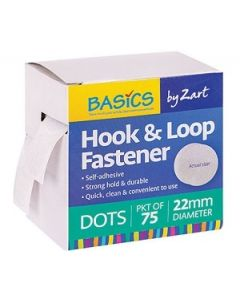 Hook and Loop Velcro Dot Fasteners 22mm Pk75