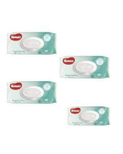 Huggies Baby Wipe Fragrance Free Pk80 Ctn4