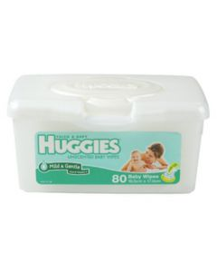 Huggies Baby Wipe Fragrance Free Tub 80