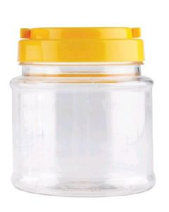 Clear Jar with yellow screw cap 700ml