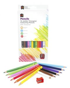 EC Pencils Triangular Colour  Long Pk12