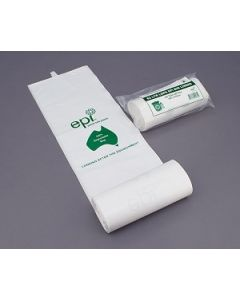 Kitchen Tidy Liner 27L White Degradable Ctn1000  20 rolls of 50
