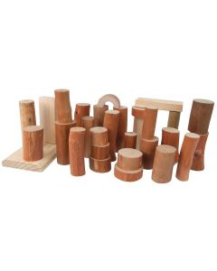 Barkless Logs Set of 27
